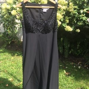 Oleg Cassini Black Evening Gown size 8